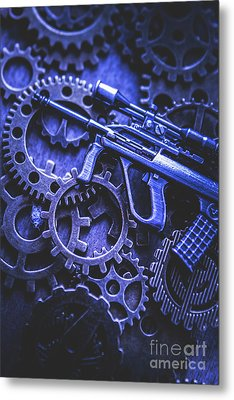 Night Watch Gears Metal Print by Jorgo Photography - Wall Art Gallery