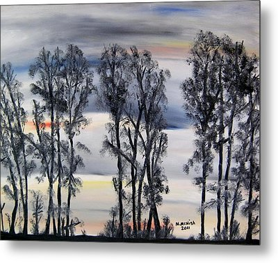 Nightfall Approaching Metal Print by Marilyn  McNish