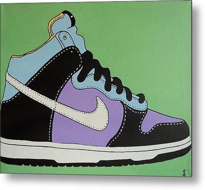 Nike Shoe Metal Print by Grant  Swinney