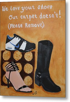 No Shoes Metal Print by Kimber  Butler