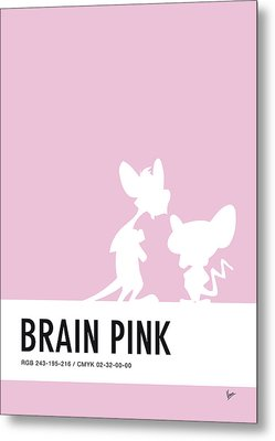 No01 My Minimal Color Code Poster Pinky And The Brain Metal Print by Chungkong Art
