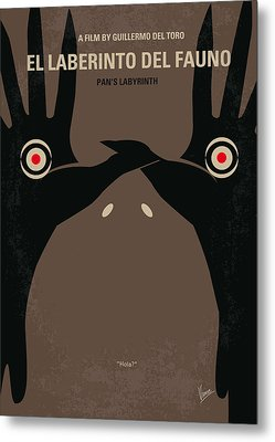 No061 My Pans Labyrinth Minimal Movie Poster Metal Print by Chungkong Art