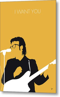 No067 My Elvis Costello Minimal Music Poster Metal Print by Chungkong Art