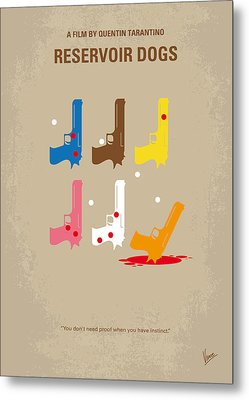 No069 My Reservoir Dogs Minimal Movie Poster Metal Print by Chungkong Art