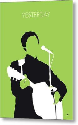 No076 My Paul Mccartney Minimal Music Poster Metal Print by Chungkong Art