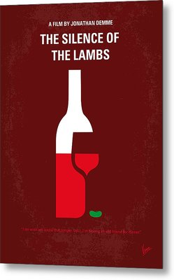 No078 My Silence Of The Lamb Minimal Movie Poster Metal Print by Chungkong Art