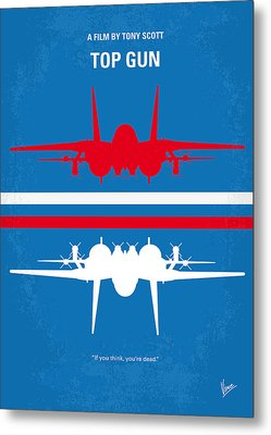 No128 My Top Gun Minimal Movie Poster Metal Print by Chungkong Art