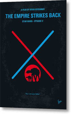 No155 My Star Wars Episode V The Empire Strikes Back Minimal Movie Poster Metal Print by Chungkong Art
