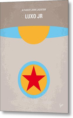 No171 My Luxo Jr Minimal Movie Poster Metal Print by Chungkong Art