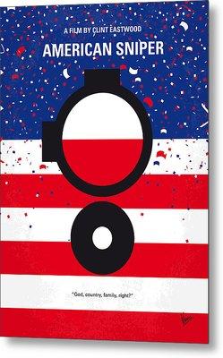 No435 My American Sniper Minimal Movie Poster Metal Print by Chungkong Art