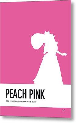 No44 My Minimal Color Code Poster Peach Metal Print by Chungkong Art