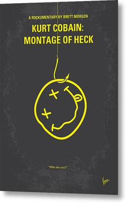 No448 My Montage Of Heck Minimal Movie Poster Metal Print by Chungkong Art