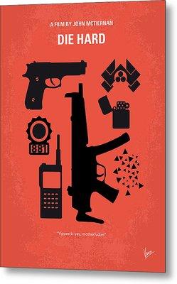 No453 My Die Hard Minimal Movie Poster Metal Print by Chungkong Art