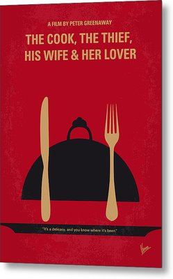 No487 My The Cook The Thief His Wife And Her Lover Minimal Movie Metal Print by Chungkong Art