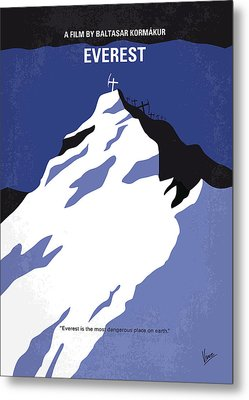 No492 My Everest Minimal Movie Poster Metal Print by Chungkong Art