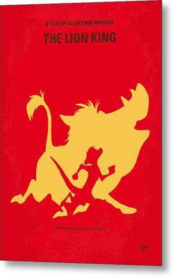No512 My The Lion King Minimal Movie Poster Metal Print by Chungkong Art