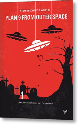 No518 My Plan 9 From Outer Space Minimal Movie Poster Metal Print by Chungkong Art