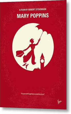 No539 My Mary Poppins Minimal Movie Poster Metal Print by Chungkong Art