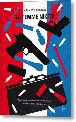 No545 My La Femme Nikita Minimal Movie Poster Metal Print by Chungkong Art