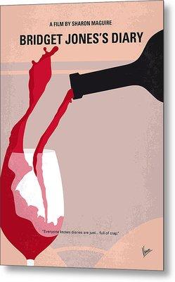 No563 My Bridget Jones Diary Minimal Movie Poster Metal Print by Chungkong Art