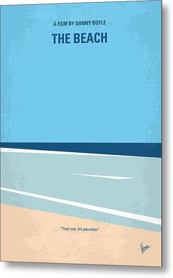 No569 My The Beach Minimal Movie Poster Metal Print by Chungkong Art