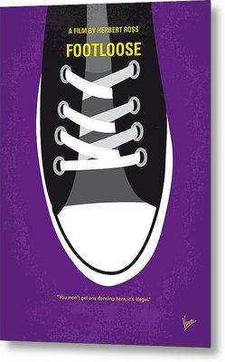 No610 My Footloose Minimal Movie Poster Metal Print by Chungkong Art