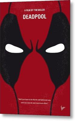 No639 My Deadpool Minimal Movie Poster Metal Print by Chungkong Art