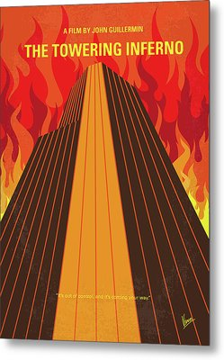 No665 My The Towering Inferno Minimal Movie Poster Metal Print by Chungkong Art