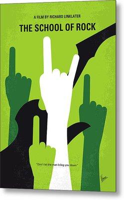 No668 My The School Of Rock Minimal Movie Poster Metal Print by Chungkong Art