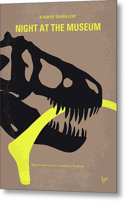 No672 My Night At The Museum Minimal Movie Poster Metal Print by Chungkong Art