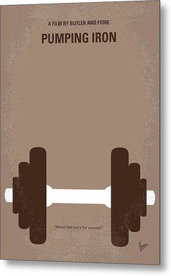 No707 My Pumping Iron Minimal Movie Poster Metal Print by Chungkong Art