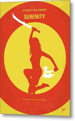No722 My Serenity Minimal Movie Poster Metal Print by Chungkong Art