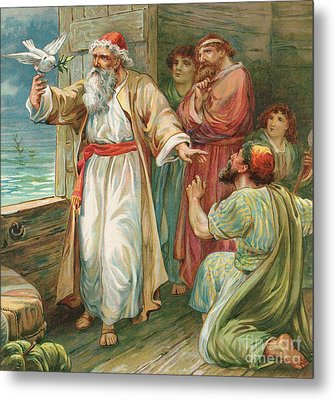 Noah And The Dove  Metal Print by Robert Ambrose Dudley