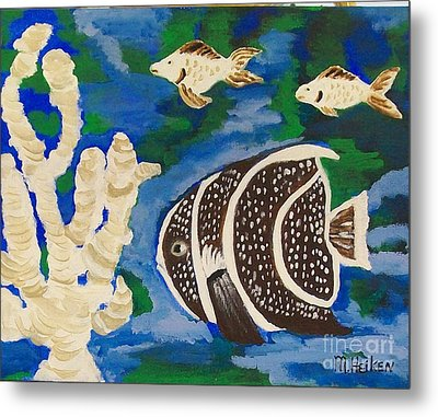 Noah's Aquarium Metal Print by Marsha Heiken