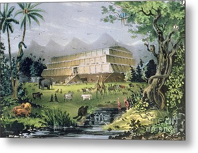 Noahs Ark Metal Print by Currier and Ives