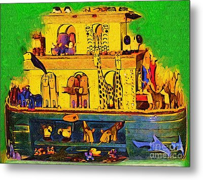 Noahs Ark From My Point Metal Print by Deborah MacQuarrie
