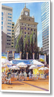 Noon Tunes Pioneer Square Metal Print by Mike Hill
