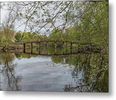 North Bridge Concord Massachusetts Metal Print by Brian MacLean