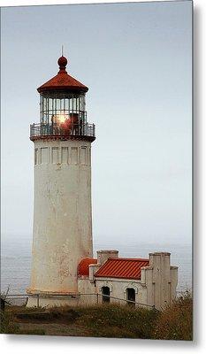 North Head Lighthouse - Ilwaco On Washington's Southwest Coast Metal Print by Christine Till