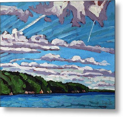 North Shore Stratocumulus Streets Metal Print by Phil Chadwick