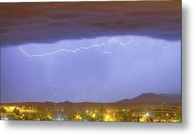 Northern Colorado Rocky Mountain Front Range Lightning Storm  Metal Print by James BO  Insogna