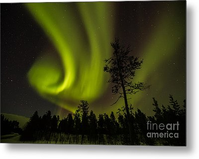Northern Light In Finland Metal Print by Gabor Pozsgai