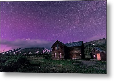 Northern Lights On Boreas Pass Metal Print by Michael J Bauer