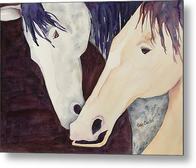 Nose To Nose II Metal Print by Renee Chastant