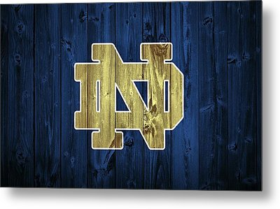 Notre Dame Barn Door Metal Print by Dan Sproul