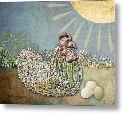 Now What.... Metal Print by Arline Wagner