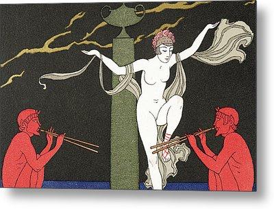 Nude Dancer  Metal Print by Georges Barbier