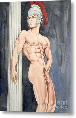 Nude Male Spartan Metal Print by The Artist Dana