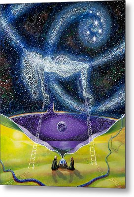 Nuit And The Seven Sisters Metal Print by Shelley Irish