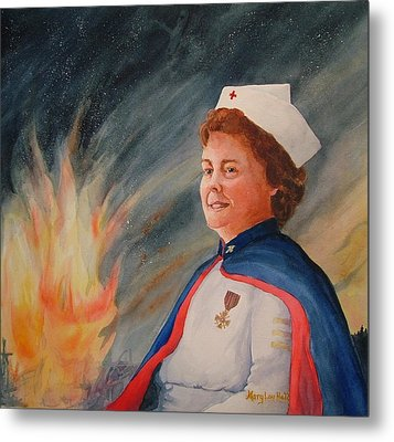 Nurse Arvin Metal Print by Mary Lou Hall
